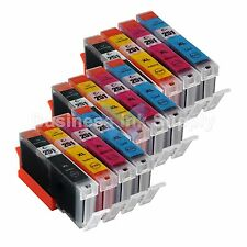 12 Color CLI-251XL Ink Tank for Canon Printer PIXMA MG5520 MG7120 iP7220 CLI251