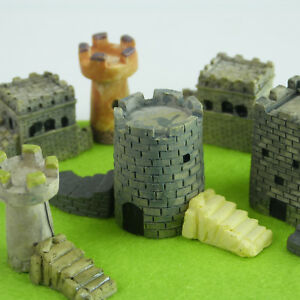 Miniature Towers Set for Fairy Gardens by Mowbray Miniatures (11 pcs)