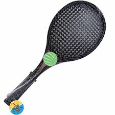 """Plastic Childrens 2 x 19"""" Rackets Tennis Set With Ball Outdoor Summer Toy Game"""
