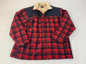 Northwest Territory Men 2XL Red Flannel Lined Jacket Coat Zip Warm Fast Ship