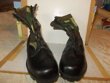 LEATHER/CANVAS RUBBER SOLE CAMO.COMBAT BOOTS UK 7 - 7.5 UNWORN, SEE ALL PHOTOS