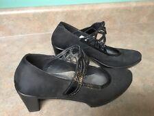 Women's NAOT Black Suede Heels Shoes Size 41 (CON6)