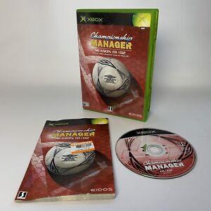 Championship Manager Season 01/02 For Original Xbox 2002 Worldwide Post!