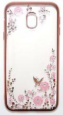 Handy Hülle Diamant Blumen Pink Case Glitzer Silikon Samsung Galaxy J3 2017