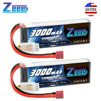 2x Zeee 3000mAh 3S 50C 11.1V Lipo Battery Deans for RC Helicopter Airplane Car