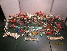 Lot Vintage  Toy Horses Cowboy & Indians