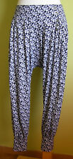 Ladies Womens  Floral Print Long Baggy Trousers Harem Pants GirlXPress Size 14