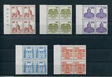 Berlin 673-677 postfrisch Viererblock mit Bogenrandstück Burgen und Schlösser