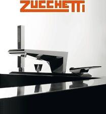 "Zucchetti ""Wosh"" ZW1465 Deck-mounted 4-Hole Bath Mixer w/Diverter+Shower Set NIB"