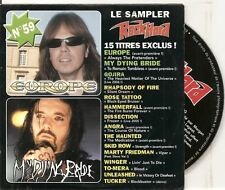 ROCK HARD FRENCH PROMO CD ALB EUROPE MY DYING BRIDE ROSE TATTOO WINGER SKID ROW