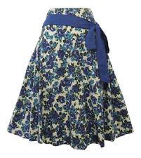 Gonne e minigonne da donna Blu Floreale