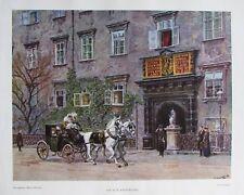 Die alte Kaiserburg Wien von Ernst Graner - Farbdruck aus 1948 Bild