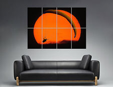 Paragliding Fly Sunset Parapente Mural  Wall Art Poster Grand format A0