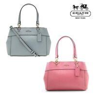 NWT COACH Mini Brooke Carryall Crossbody Glitter Bag Purse Pink Blue Sage F31251