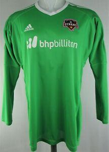 Houston Dynamo MLS Adidas Men's Green Long Sleeve Jersey Flawed