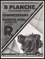 Publicité Moteurs PLANCHE Pompes  vintage  ad   AD  1929 - 12i