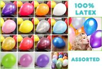 "100 x 12"" Mix PREMIUM PEARLISED METALIC HELIUM BALLOONS BIRTHDAY PARTY WEDDING"