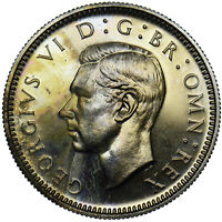 1950 PROOF SIXPENCE - GEORGE VI BRITISH COIN - SUPERB