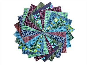 "40 5"" Quilting Squares Indigo Lake Charm Pack"