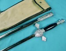 Antique US Knights of Columbus Fraternal Masonic Sword w/ Scabbard Case