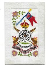 More details for army cyclist corps ww1 silk postcard cyclist compagnie divisional mounted troops