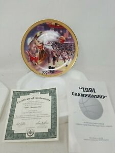 Upper Deck Michael Jordan Collector Plate 1991 NBA Championship Limited Edition