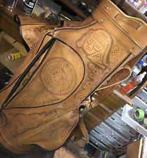 Hand Tooled Leather Golf Bag In great shape