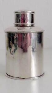 Solid Silver Tea Caddy/Cannister Chester 1908