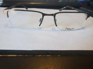 NEW AUTHENTIC FLEXON E1052 210 brown Men's Eyeglasses 53mm 19 140 PERFECT