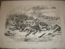 The dead inside the La Roquette prison Paris France 1871 old print