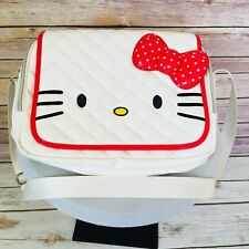 Hello Kitty White Stitch Quilted Shoulder Bag Computer Travel Case *See Notes
