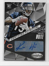 2015 15 LEAF CERTIFIED KEVIN WHITE CERTIFIED POTENTIAL GOLD ROOKIE AUTO 10/25