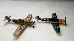 2 x Corgi Messerschmitt Me Bf 109 Miniature Aircraft - one damaged Read Descript