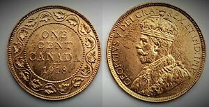 Canada 1918 Large Cent (INV0113) Red UNC MS-63!!