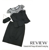 Review vintage inspired Top w net & polka dots - Size 12 (skirt available Sz 10)