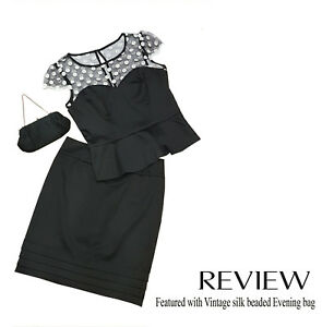 Review vintage inspired black Skirt - Size 10 (TOP IS SOLD)