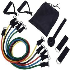 Resistance Bands Exercise 11Pcs Kit Strength Training Straps Workout Trainer US