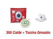 300 Cialde Carta Caffè Borbone 44 mm Miscela Rossa Red Rosso + Tazzina Omaggio