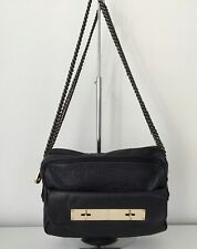 Mulberry Carter Double Chain Handle Ink Blue Colour Leather Camera Bag