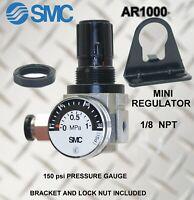 "1pc Air Filter//Regulator 1//8/"" NPT 2000 L//min Gauge Bracket MettleAir AW2000-N01"