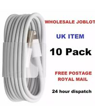 10 x Cabls For Apple iPhone5,5s,6,7,8  iPad Charger Lead Cable Wholesale Job Lot