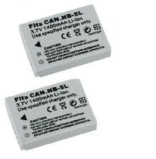 2X NB-5L NB5L Battery For Canon PowerShot S100 S110 SX200 SX210 IS SX230 HS