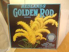"Redlands Golden Rod Brand Metal Sign, 13 1/2"" X12 1/2""(Used/Euc)"