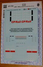 Microscale Decal HO #87-733 CP Rail Diesels (1969-1995) use with 87-737 &