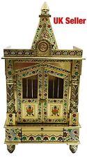 "Golden Minakari Meena Puja Pooja Mandir Hindu Temple 18""W X 6""D UK Seller"