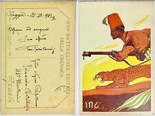 2109) Cartolina Campagne d'Africa XVI Battaglione Eritrei della Cirenaica