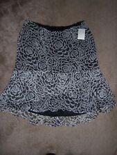 NWT Womens WORTHINGTON Black/White Silk Skirt Size 12