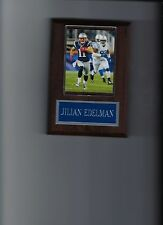 JILIAN EDELMAN PLAQUE NEW ENGLAND PATRIOTS FOOTBALL NFL GAME ACTION