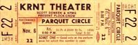 THE FLOCK AND THE CROW BANDS 1970 UNUSED KRNT CONCERT TICKET / NMT 2 MINT No. 3
