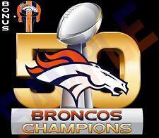 "Denver Broncos SUPER BOWL 50 CHAMPIONS 7"" Vinyl Car Decal / Sticker FULL COLOR"